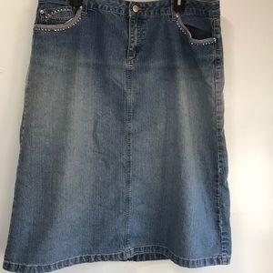 Cato jean skirt